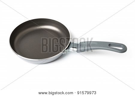 New Frying pan isolated on white
