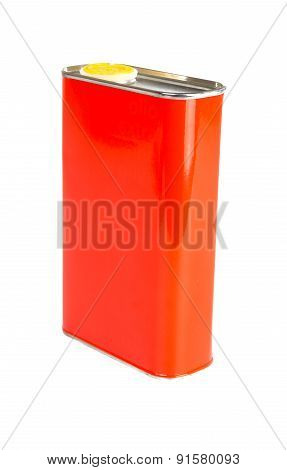 Red Oil can isolated on white