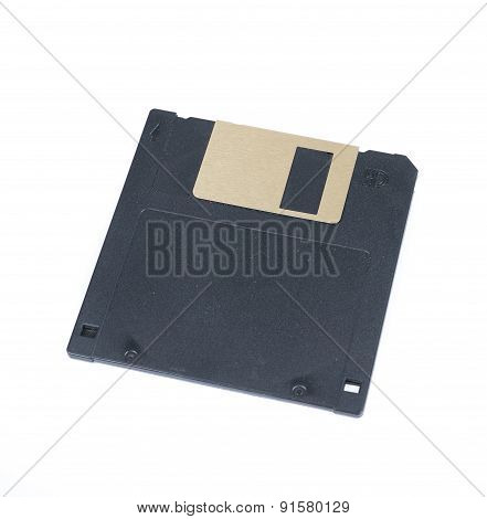 Black Floppy Disc Isolated on white