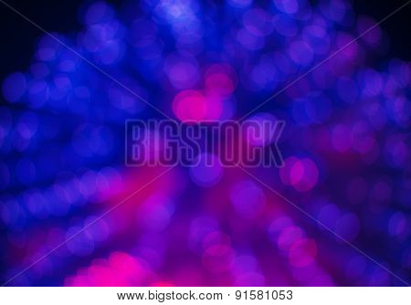 Blue And Purple Bokeh Color Abstract Background