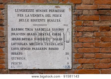 Historical Sign, Venice