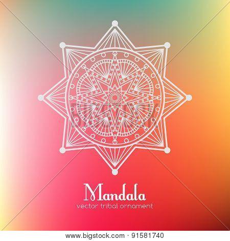 Ethnic round mandala