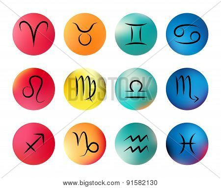 Zodiac signs. Vector icons
