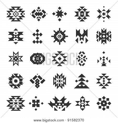 Vector abstract geometric elements