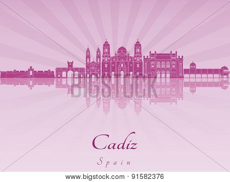 Cadiz Skyline In Purple Radiant Orchid