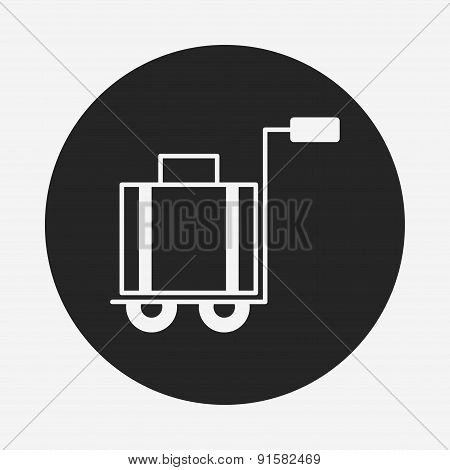 Suitcase Trolley Icon