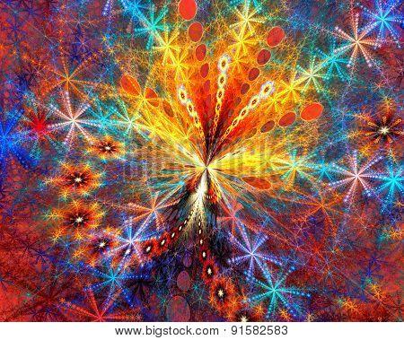 Firework. fractal background