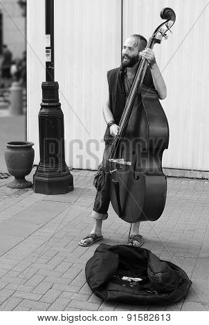 Busker On The Old Arbat, Moscow