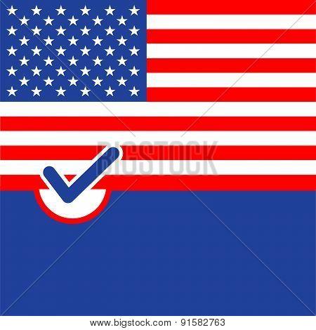Voting Symbol American Flag