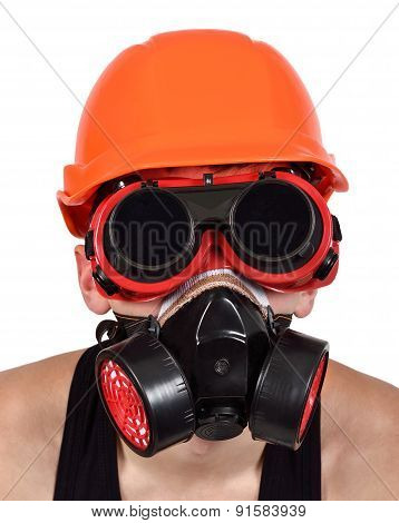 Worker In Bio-hazard Mask