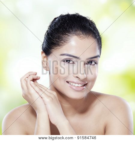 Girl With Natural Skin And Black Hair