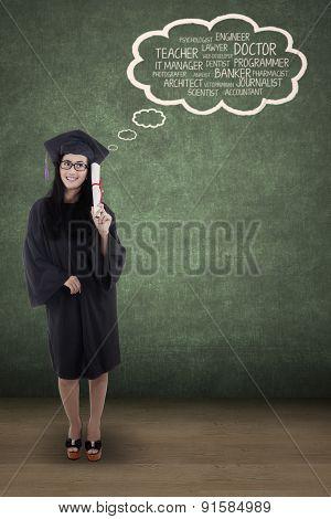 Graduate Student Dreaming Her Future Goals