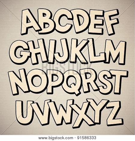 Hand drawn cartoon doodle font