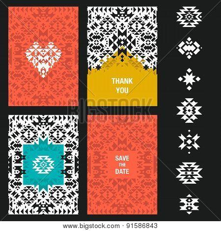 Vector abstract card templates