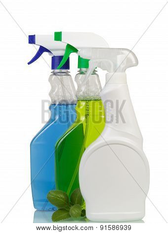 Bottles of Cleaning spray