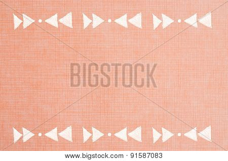 Handmade Ornament Prints On copper chequered Paper Background - Abstract Graphic Design