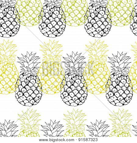 Vector pineapple background