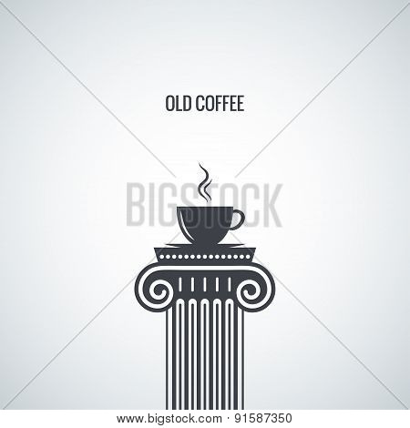 coffee cup classic design background