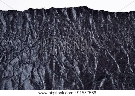 Ripped Black Crushed  Paper