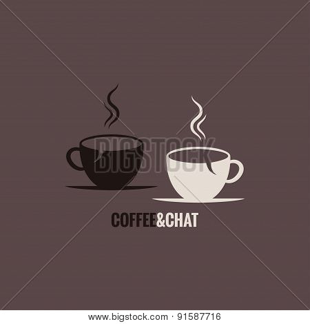 coffee cup chat concept background