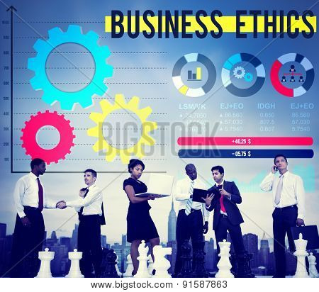 Business Ethnics Awareness Honesty Legal Concept