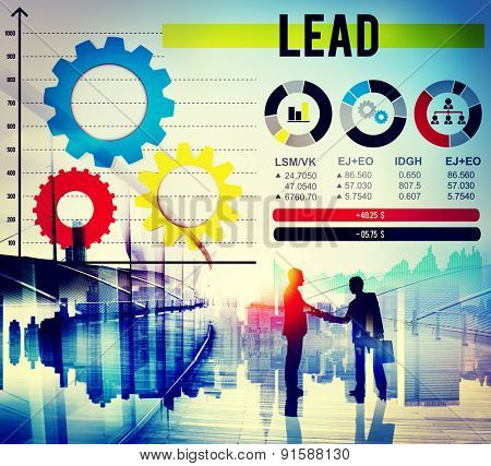 Lead Authority Leadership Management Leading Concept