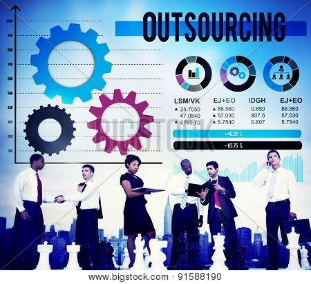 Outsourcing Career Recruitment Work Subcontract Concept