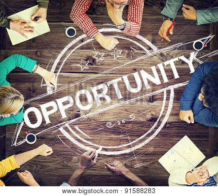 Opportunity Change Chance Choice Development Concept