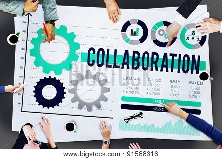 Collaboration Teamwork Cooperation Member Partner Concept