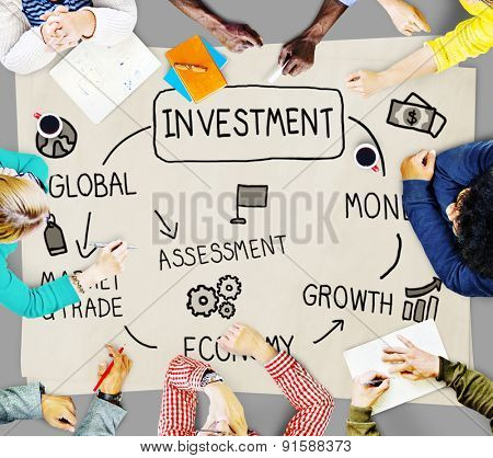 Investment Money Assessment Economy Market Trade Concept