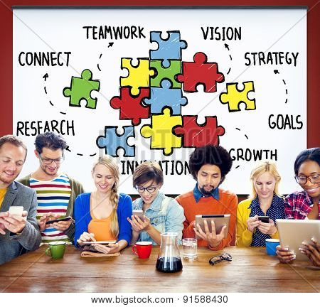 Teamwork Team Collaboration Connection Togetherness Unity Concept