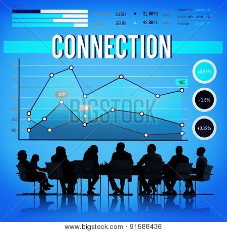 Connection Relationship Collaboration Link Business Concept