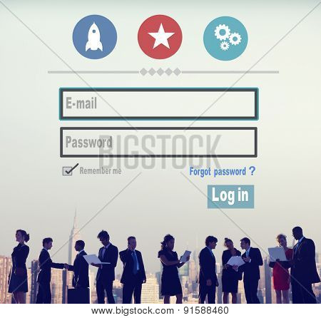E-mail Identity Password Membership Sing In Web Page Concept