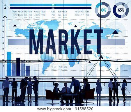 Market Marketing Advertisement Branding Commercial Concept