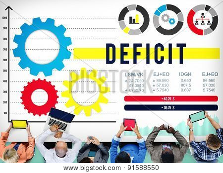 Deficit Financial Money Budget Economic Concept