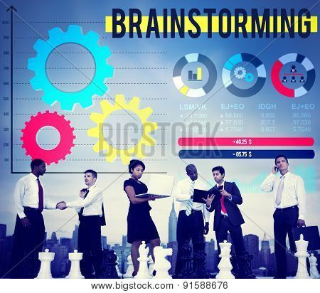 Brainstorming Business Meeting Seminar Conference Concept