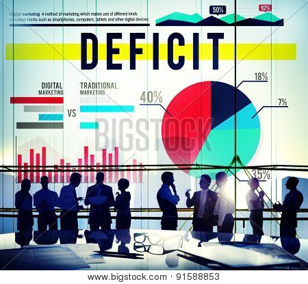 Deficit Problem Crisis Finance Marketing Concept