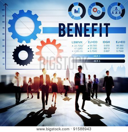 Benefit Assist Charity Claims Income Profit Value Concept
