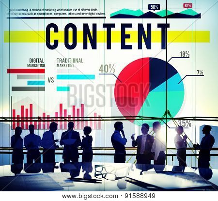 Content Data Business Marketing Concept
