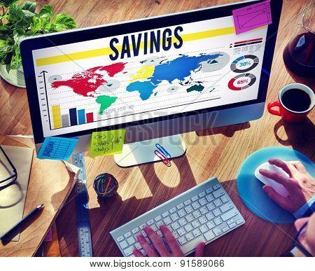 Savings Accounting Banking Economy Financial Concept