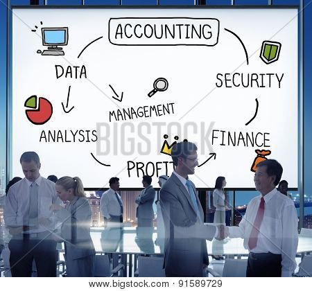 Accounting Security Management Profit Analysis Concept