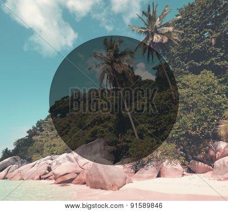 Tropical Island Beach Summer Travel Destination Concept