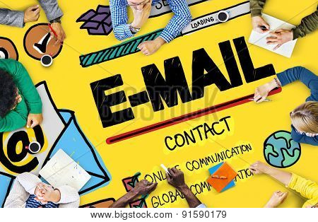 E-mail Online Messaging Correspondence Concept