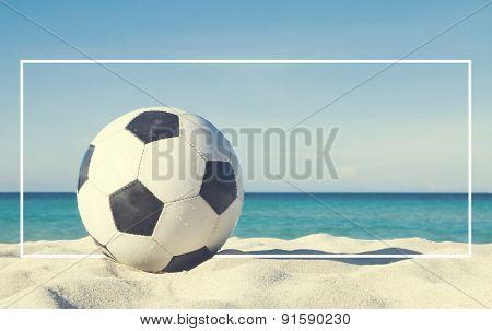 Football on the beach Activity Sport Concept
