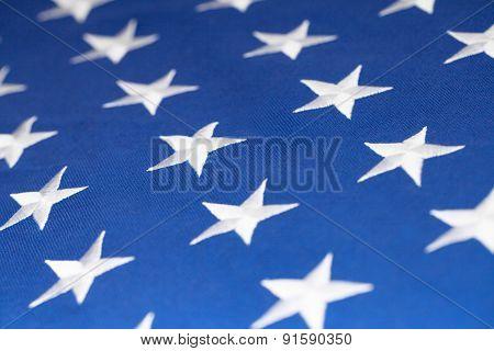 Usa Flag Stars Making Pattern - Studio Shot