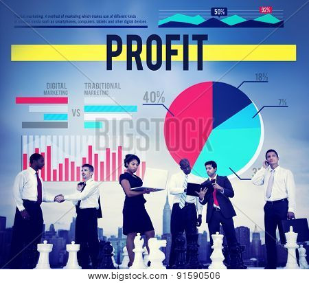 Profit Gain Proceeds Gain Earning Concept