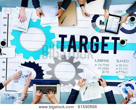Target Mission Solution Success Vision Goal Concept
