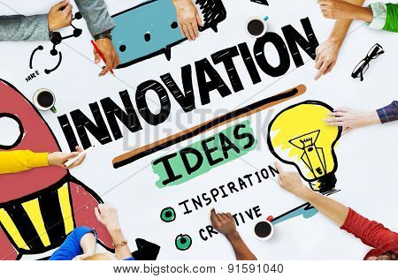 Innovation Business Plan Creativity Mission Strategy Concept