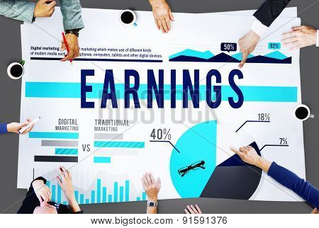 Earnings Budget Finance Profit Business Concept