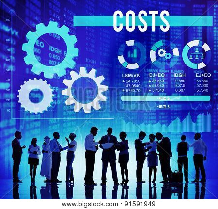 Costs Currency Investment Economy Financial Concept